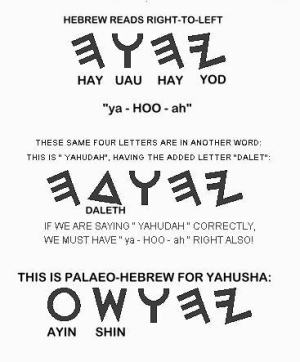 Jehovah & Jeshua in Paleo-Hebrew