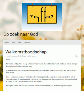 Op zoek naar God = A la recherche de Dieu = Looking for God