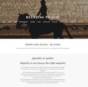 Relating to God Weebly site False doctrine page 20160309