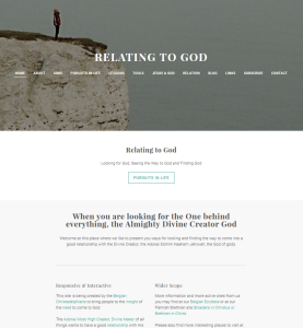 Relating to God Weebly site Home page on its starting day 2016 03 09