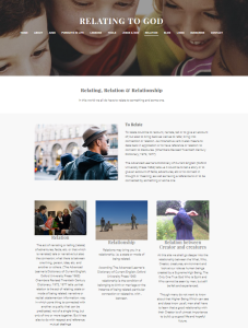 Relating to God Weebly site Relation page